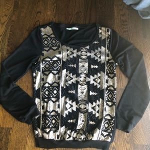 Maurice's size small sequin front sweatshirt